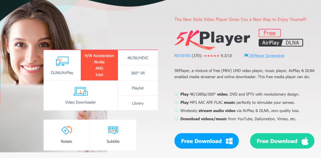 Best Video Player For Windows 10 - 5KPlayer