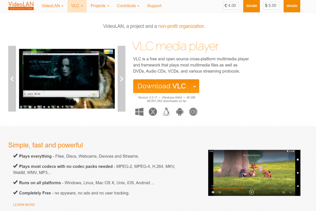 Best Video Player For Windows 10 - VLC