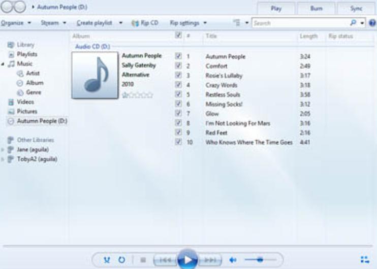 Burn Rip A CD In Windows Using Windows Media Player - Rip CD