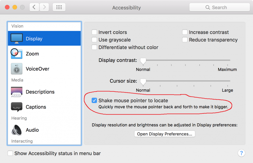 Fix Cursor Mouse Pointer Disappear Chrome - Mac Accessibility