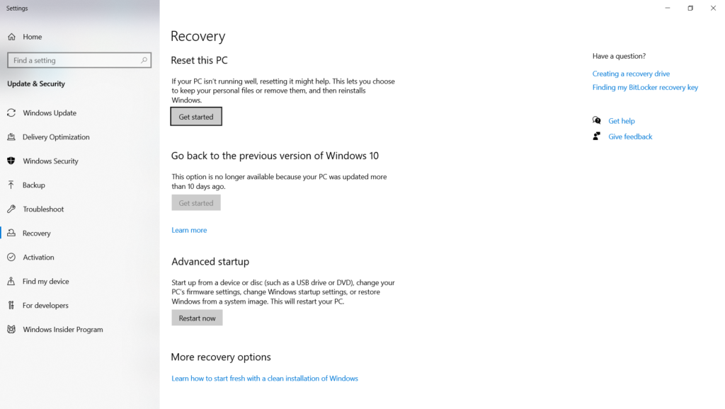 Toshiba Laptop Reset Windows 10 Recovery