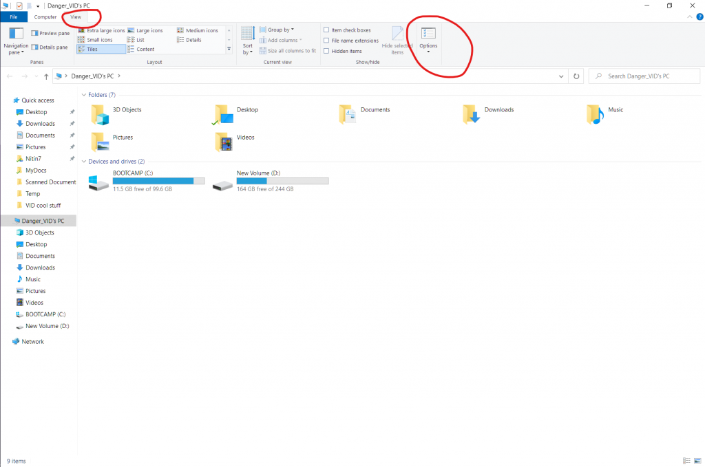Unhide Folders In Windows 10 View Tab